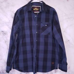 Nautica plaid button down shirt size medium